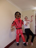 Michael Jackson 'Thriller' zombie balloon sculpture